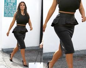 kim-kardashian-Alexander-McQueen-Leather-peplum-skirt